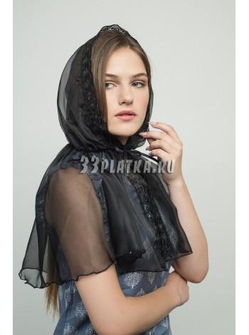 Ниспадающий платок черный