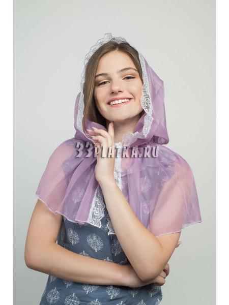 Ниспадающий платок сиреневый