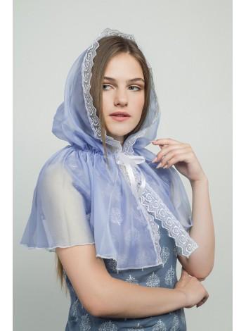 Ниспадающий платок синий