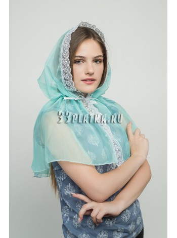 Ниспадающий платок бирюзовый