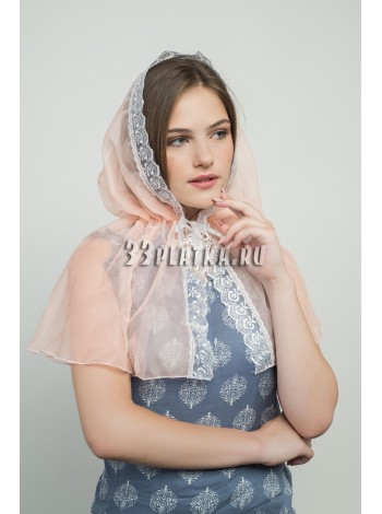 Ниспадающий платок персиковый