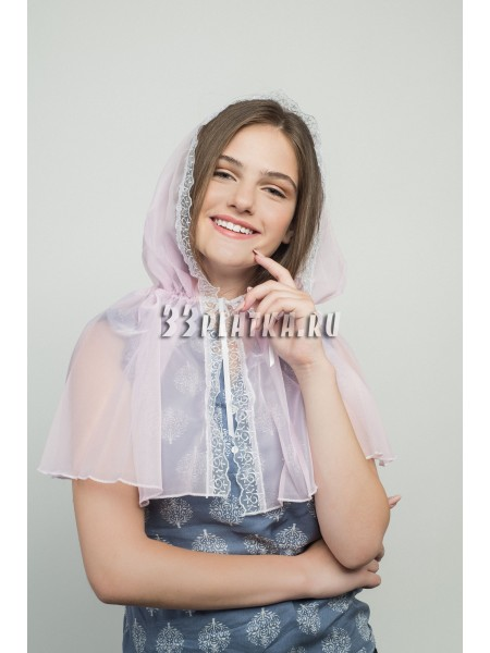 Ниспадающий платок розовый