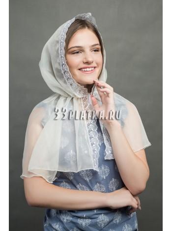 Ниспадающий платок экрю