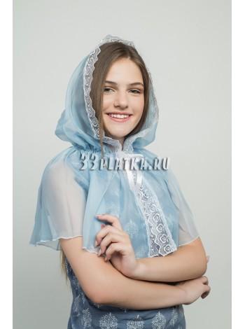 Ниспадающий платок голубой