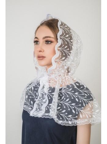 Ниспадающий платок белый