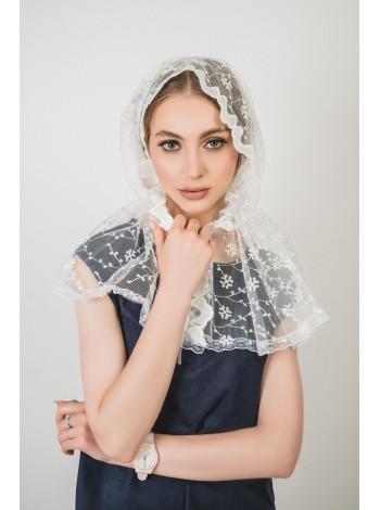Ниспадающий платок бежевый